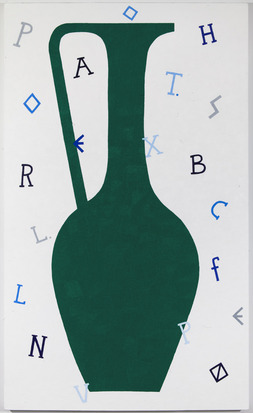 Timothy Hull Vase and Text Green, 2013