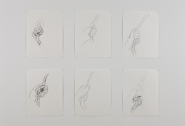 Simone Forti Rope Drawings, 2011