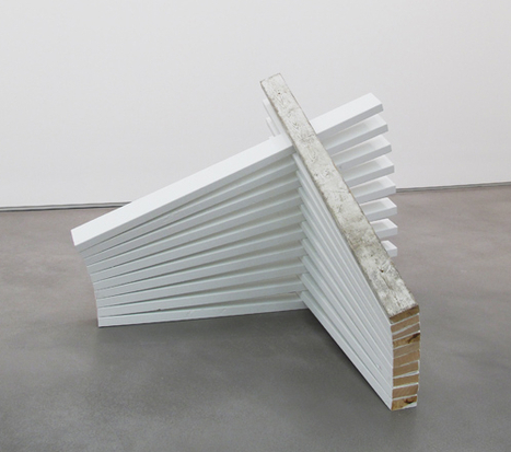 Colby  Bird stacked painting (stepped on), 2011